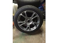 Set of 4 Alloy Wheels & Winter Tyres 215 x 55 xR18