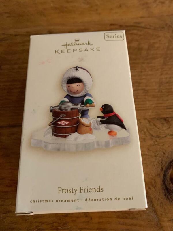 Hallmark Keepsake Ornament 2007 Frosty Friends Ice Bucket Penguin #28 Series
