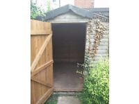 FREE 6x8 garden timber wooden shed - for spares / repair
