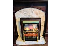 Electric fireplace with marble backing *collection only *
