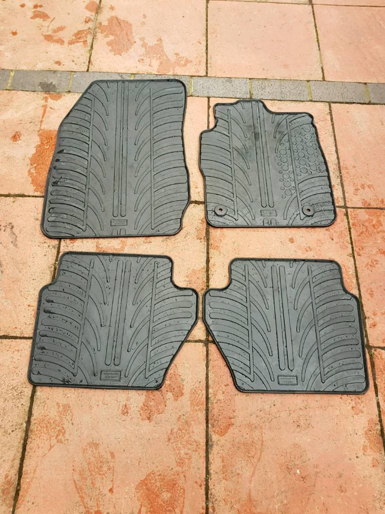 Ford fiesta front and rear rubber mats
