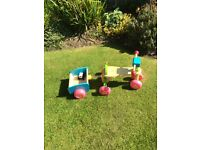 ELC wooden trailer and bike set