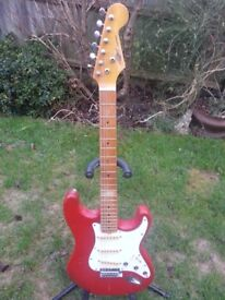 1980 STRATOCASTER STYLE MDL BY MARLIN EAST GERMAN MADE..LOTS OF CHARACTER LIVED IN ROAD WORN LOOK !