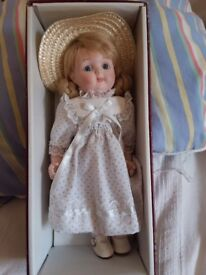 Pretty smaller size Alberon collector's porcelain doll.