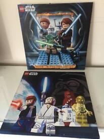 Lego Star Wars canvas x 2