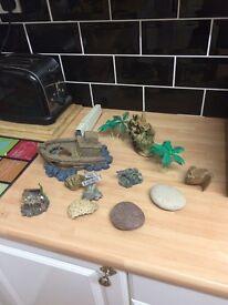 Fish tank ornaments job lot £15
