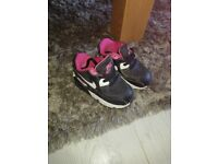 Nike size 5.5 baby girl trainers