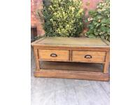 Oak Furniture Land solid oak coffee table, bargain free delivery