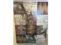 wall art picture frame map trendy