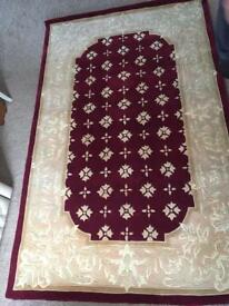 Thick wool large rug brand new burgundy colour