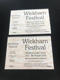 Two wickam festival tickets