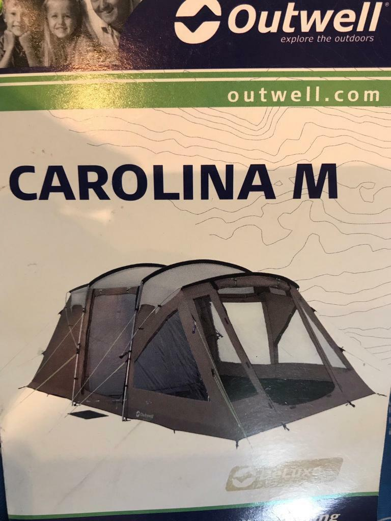 Outwell Carolina M tentin Market Drayton, ShropshireGumtree - Outwell carolina m tent with extension used once comes with all poles mallet ground sheets and footprint in mint condition