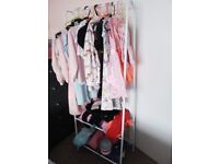 Children's clothes rail .and hangers. 2 months old as new d 10 k