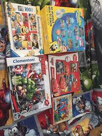 Kids jigsaws avengers, Disney cars, Spider-Man, minions and spongebob
