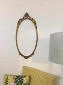 Vintage metal picture/mirror hanging frame