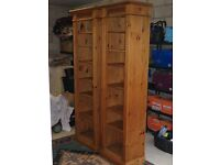 tall bookcases solid wood for sale