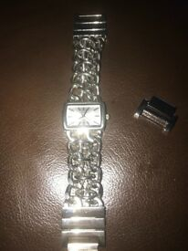 Stainless Steel Love Links Watch Almost New