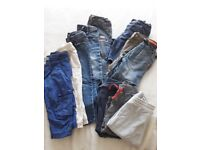 Boys jeans,shorts and joggers size 12-24 months