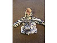 Baby girl shower coat 9-12 month, worn twice