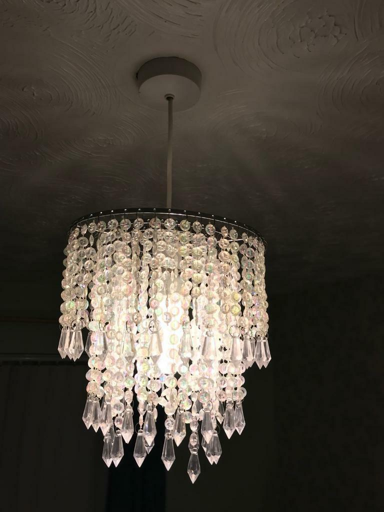 Glass droplet ceiling light lamp shade in langdon hills essex glass droplet ceiling light lamp shade mozeypictures Gallery