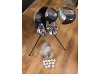 Donnay golf set golf clubs with stand bag, balls and tees