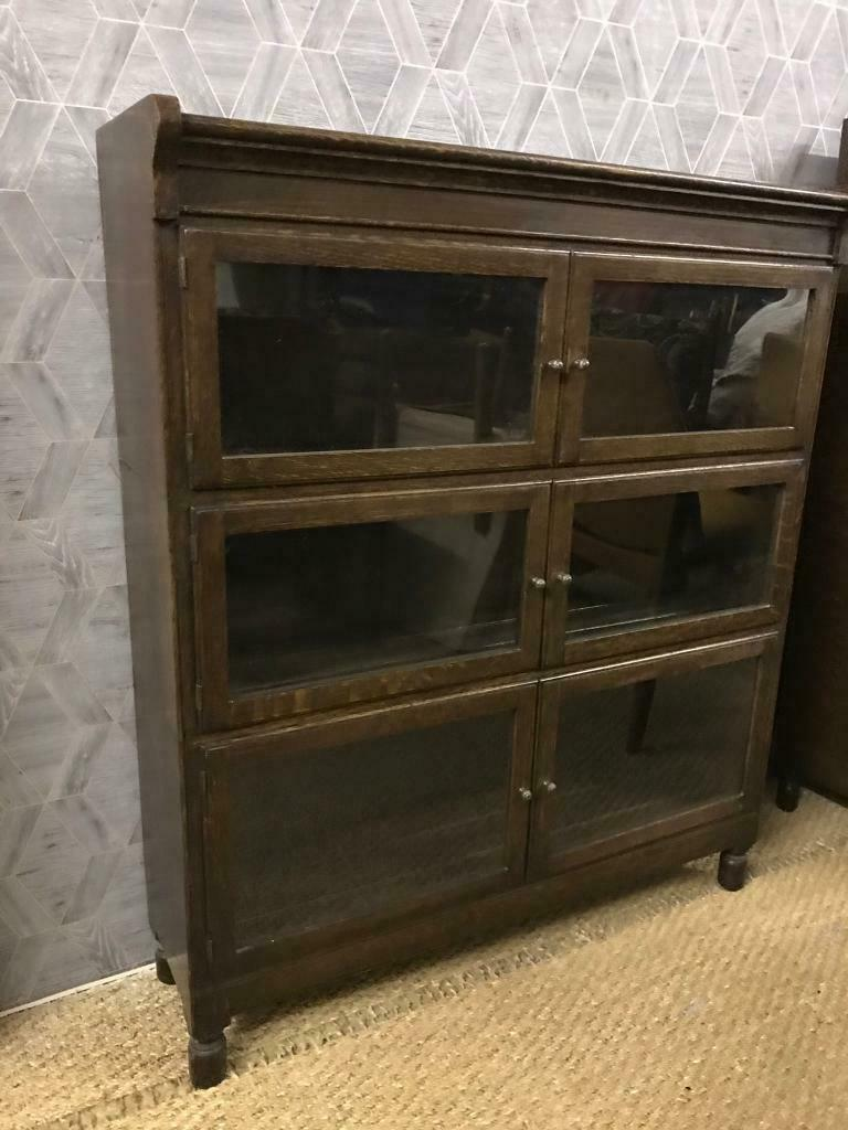Antique Sectional Barristers Bookcase With Clear Glass Doors In Salisbury Wiltshire Gumtree