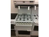 White stoves 55cm eye level gas cooker grill & double ovens good condition with guarantee