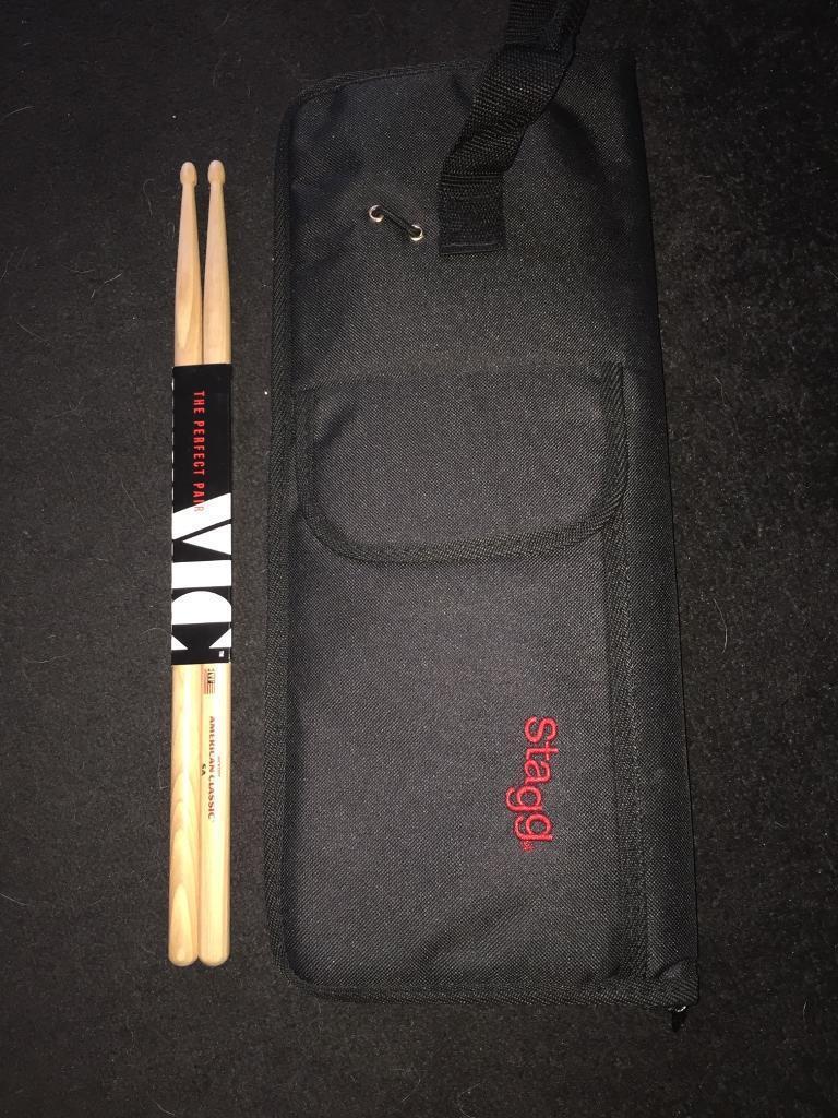 Drumsticks and case