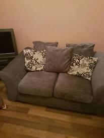Gorgeous charcoal fabric sofa set