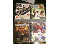 4 x PLAYSTATION PS3 GAMES MERCENARIES 2 KANE LYNCH TENNIS FIFA 10