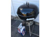 Weber bbq with charcoal