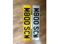 M800 SCW private cherished personal personalised registration plate number