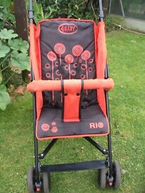 Buggy, changing unit, highchair, walker, activity centre
