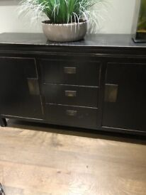 Sideboard wenge style solid wooden cabinets