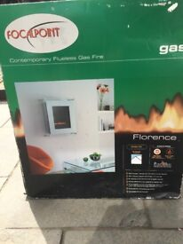 Flueless gas fire boxed and unused