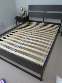 IKEA Trysil Double Bed Frame Black/Brown