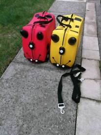 Two Trunki Cases - Red and Yellow