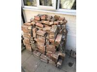 200 red London bricks / hardcore used and FREE