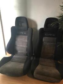 Honda CRX SI OEM Bucket Seat's Rare JDM
