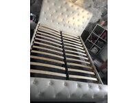 Double White Sleigh Bed