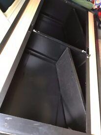 Filing cabinet cupboard double door tambour lockable