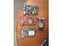 Desktop PC Graphics cards x4 Good working order
