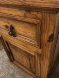 Small solid wood cabinet