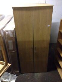 Large Wood Double Wardrobe