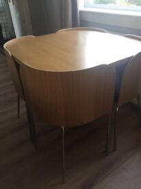 Hygena Amparo dining table and 4 chairs
