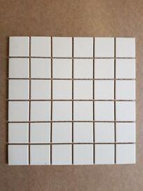 7m2 50x50mm White Matt Mosaic Tile Sheets