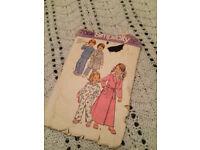 Sewing pattern for child's nightwear