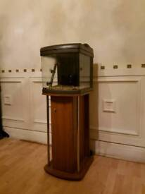 Complete nano fish tank with cabinet + Built-in filter with venturi+ heater + light+gravel
