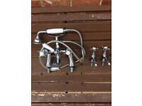 Bristan Birmingham 1901 mixer taps with shower attachment also with hot and cold sink taps
