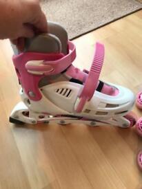 Pink in-line skates